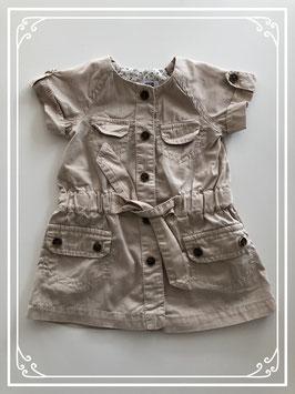 Beige zomer jurk van de ZARA - Maat 68