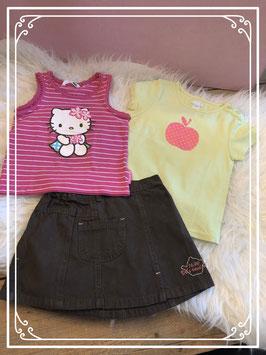 3delige kleding set met Hello Kitty - Maat 86