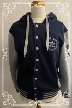 Stoer grijs met donkerblauw vest van Adidas maat  M