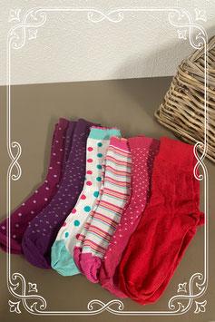 6 paar sokken in vrolijke kleuren maat 39-42