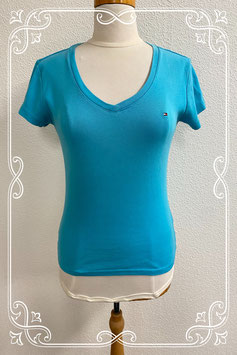 Leuk blauw shirt van Tommy Hilfiger maat M