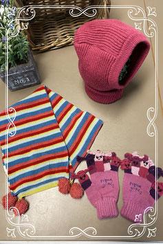 Muts - sjaal en handschoenen in vrolijke kleuren - van 4-8 jaar