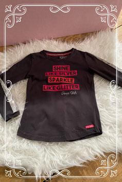 Donkergrijs lange mouwen t-shirt van Quapi girls - Maat 110-116