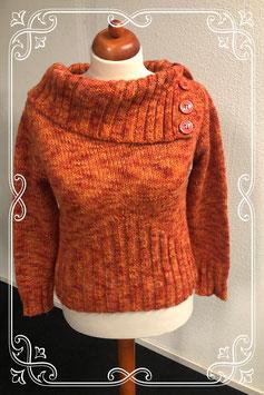 Leuke warme oranje trui van Clockhouse maat 40
