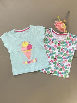 2 vrolijke zomerse shirts van Primark in maat 86