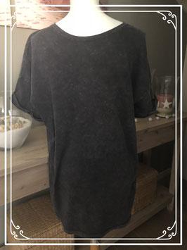 Antraciet tshirt met vintagelook merk Bershka - maat S