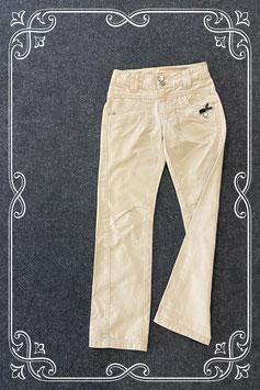 Mooie en nette beige broek van Barbara Farber maat 140