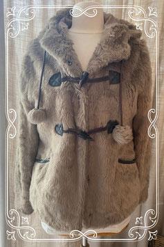 Bruine houtje-touwtje jas van het merk New Look - maat m