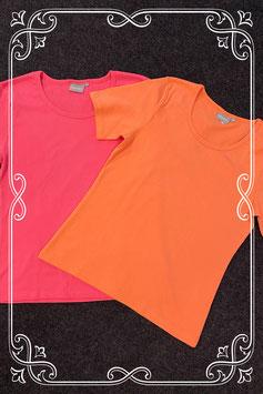 Nieuw! Roze en oranje shirt van Essentials maat S