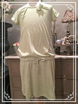 Grijs groen-gesteerpte jurk van United Colors of Benetton - maat 146-152