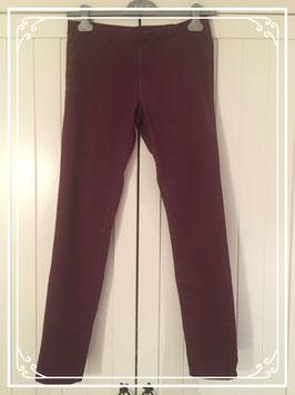 Bordeaux-rode lange broek van Esmara - maat 38