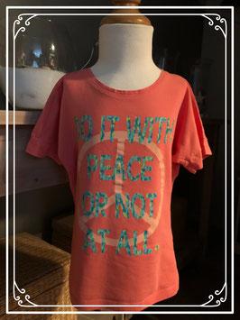 Roze shirt met blauwe tekst van JILL - Maat 128