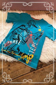 Kleurrijk lichtblauw t-shirt van Yigga - Maat 134-140