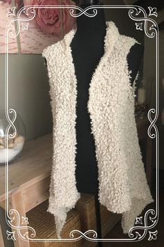 Crèmekleurig vest van Gina - Maat 40
