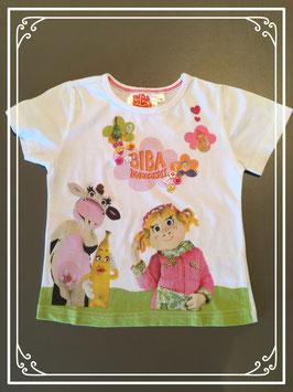 Wit T-shirtje van Biba Boerderij - maat 92