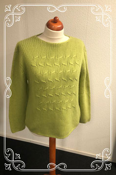Sierlijke groene trui maat M