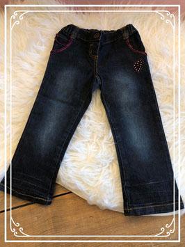 Spijkerbroek met roze details van Prémaman - Maat 86
