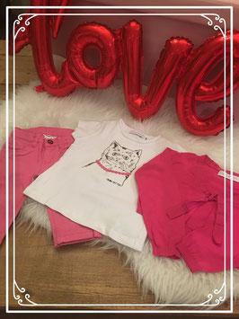 Wit/roze kleding set van FILOU & FRIENDS - Maat 98