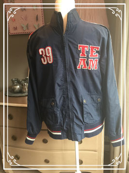 Warme donkerblauwe jas van AKMO - maat 164-170