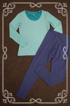 Nieuw! Leuke longsleeve van C&A en donkerblauwe legging in maat S/36