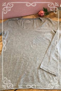 Lichtgrijs basic shirt van de Hema - maat l