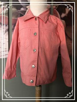Roze spijkerjas - Maat 110-116