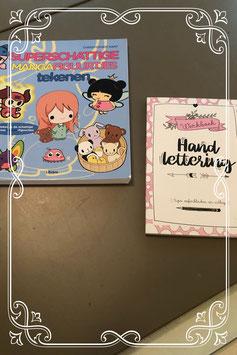 Manga figuurtjes tekenen en Hand lettering