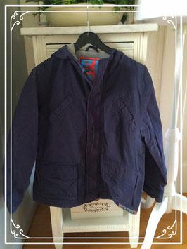 Mooie donkerblauwe gevoerde jas van Team 63 - maat 122-128