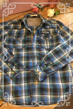 Donkerblauw geruite blouse van Jack&Jones - maat L