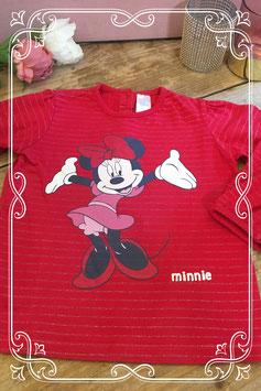 Rood shirt van Disney by C&A - maat 92