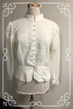 Nette elegante beige blouse maat XS/S