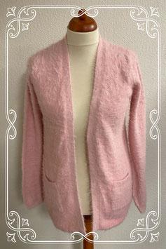Leuk roze fluffy vest van C&A maat M/L