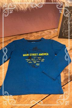 Blauwe lange mouwen shirt van de HEMA - Maat 134/140