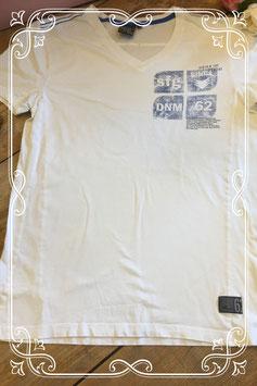 Wit korte mouwen shirt met print van WE - Maat M