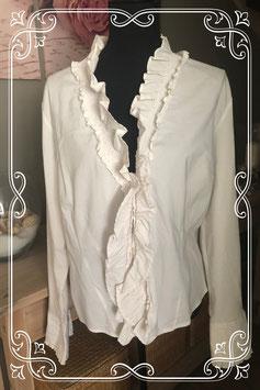 Wit overhemd met sierlijke voorkant - Maat XL