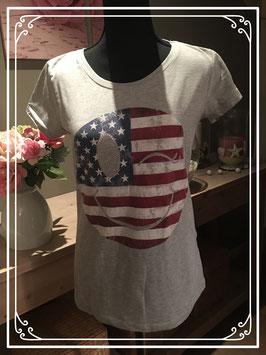 Grijs T-shirt met Smiley - Maat XL