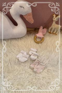 Set van drie paar baby sokjes