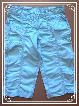 Turquoise driekwart broek - maat 152