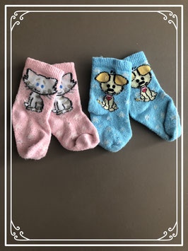 2 paar dieren sokken