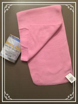 Nieuw: roze fleece sjaal