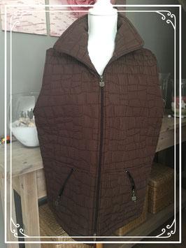 Mooie bruine bodywarmer van Style Mode Collection maat L