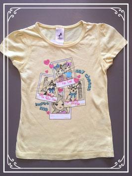 Geel T-shirtje van Palomino -maat 110