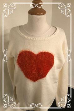 Leuke beige trui met hart van C&A maat S