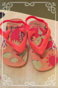 roze slippers van havaianas - maat 23/24
