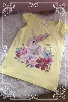 Fleurig geel konijnen t-shirt van C&A - Maat 134