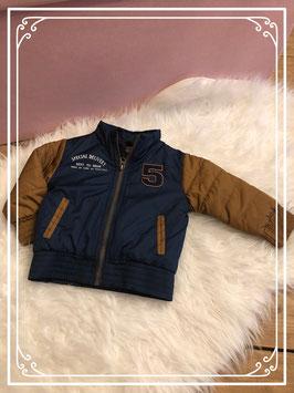 Blauw met bruine winterjas van het merk Dirkje - maat 74