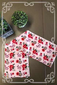 Roze sjaal met vrolijke bloemen - voor 4-7 jaar