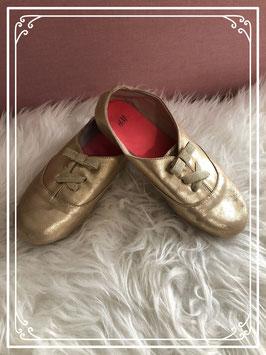 """Mooie """"gouden"""" schoentjes van de H&M maatje 34"""