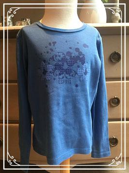 Blauw shirt met opdruk van Esprit - maat 128
