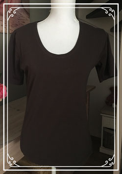 Donkerbruin basic T-Shirt van Wanted - Maat L